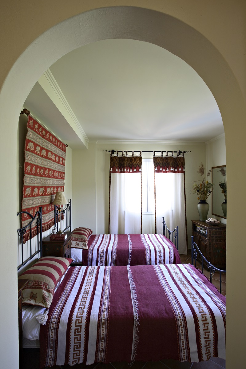 The 'Dancing Camels' bedroom at Villa Octavius