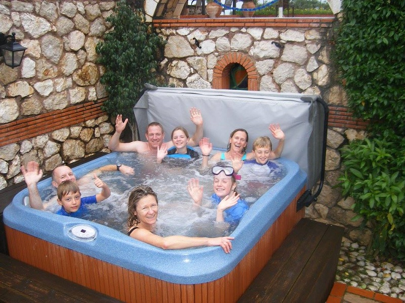 Guests enjoying the Jacuzzi