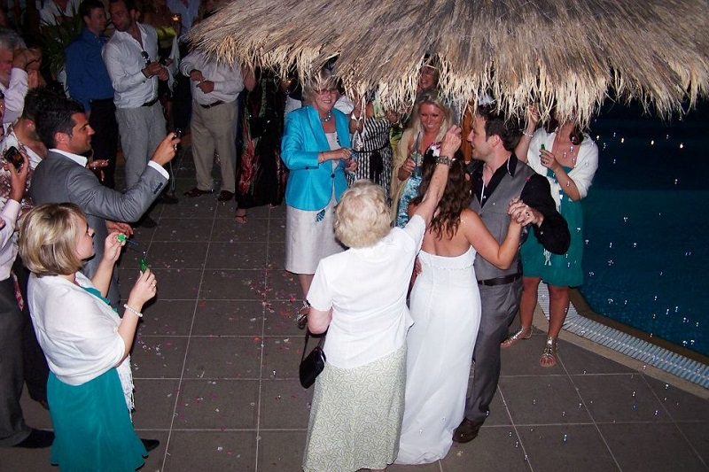 Wedding reception dancing at Villa Octavius